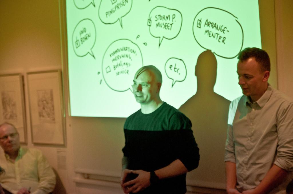 Copenhagen Comics' Mads Bluhm med talebobbel
