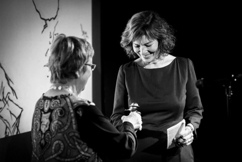 Nikoline Werdelin modtager Æresprisen. Foto: Jon Bjarni Hjartarson